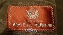 WWII US Army Air Forces Officers Dress Coat Jacket OD 40L (Dated 1944)