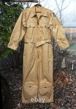 WWII US Army Air Forces Summer Flying Suit AN-S-31A Full Color Logo Size 38 M