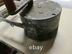 WWII US Army Military Federal Electric Co Hand Crank Air Raid Siren with Cover