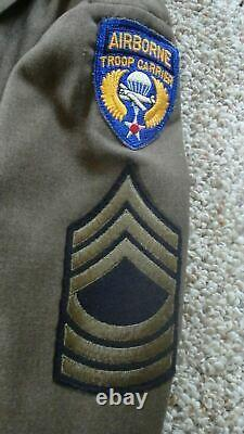 WWII US Army air corps AIRBORNE TROOP CARRIER Sergeant Enlisted Uniform