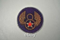 WWII U. S. 8th ARMY AIR FORCE PATCH IN BULLION BRITISH MADE