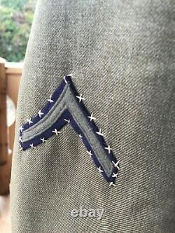 WWII U. S. Army Air Corp Tunic 1st Army Air Force Felt Patch Fancy Stitching