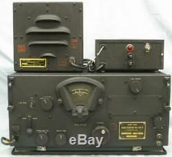 WWII U. S. Army Air Force BC-348-R Radio Receiver, 24 VDC Power Supply, & Speaker