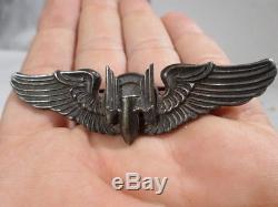 WWII VINTAGE US Army Air Corps N S Meyer Aerial Gunner Bombardier Wings 3 Inch