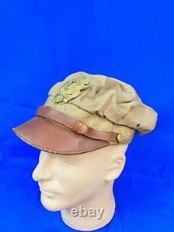 WWII WW2 Army Air Corps Pilot Officer's Crusher Hat Flighter by Bancroft withPhoto