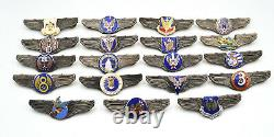 WWII WW2 US U. S. ARMY AIR FORCE NAVY WINGS PIN Medal Full SET 19 BADGES RARE