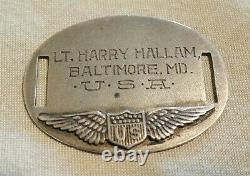 WWI WWII Dog tag bracelet Army Air Corps Pilot Wings