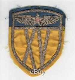 WW 2 US Army 15th Air Force Bullion Patch Inv# M697