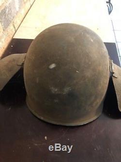 WW 2 US Army Air Corps Bomber Crew M 3 Anti-Flak Helmet