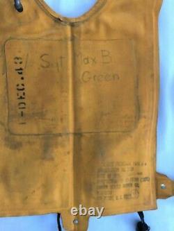 WW II Identified U. S. Army Air Corps Life Vest