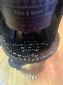 WW II Mk II Astro-Compass US Army Air Corps