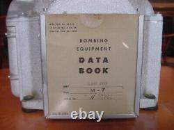 WW II US Army Air Forces Norden Bombsite M-7 Flight Gyro with Data Book