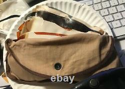 WW II US Army Air Forces leather helmet, goggles, oxygen mask