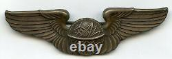 World War 2 US Army Air Force Navigator Pilot Wings 925 Sterling Silver BJ902