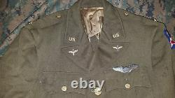 World War II Vintage US Army Air Corps pink and green ASU Jacket coat wool WW2