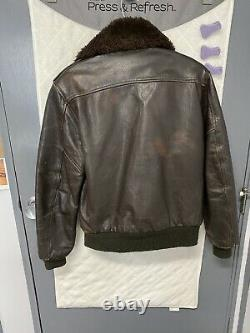 World War II (WWII) US Army Air Corps Bomber Jacket. Navy