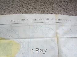 World War Two 2 A. A. F. Army Air Force Life Raft Charts Oil Cloth 5 Pack Maps Map
