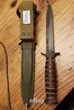 Ww11 Ww2 U. S. Army Air Borne Combat M3 Imperial Fighting Knife With Sheat I'd
