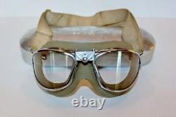 Ww2 Aviator Flight Flying Goggles- American Optical- Us Army Air Corps
