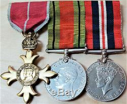 Ww2 British Army, Navy Or Air Force Order Of The British Empire Medal Group
