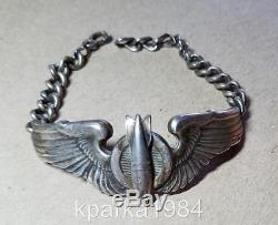 Ww2 Era Army Air Corp Bombardier Wings Sweetheart Bracelet Luxenberg