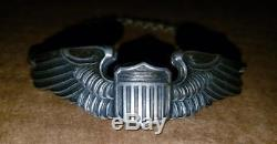 Ww2 Era Army Air Corp Pilot Wings Sweetheart Bracelet Lgb Sterling