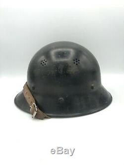 Ww2 Luftschutz Czech Helmet German Air Raid Nice Flak Wwii Army Army