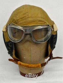 Ww2 Us Army Air Corps Flying Cap And Goggles