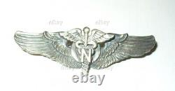Ww2 Us Army Air Force Flight Nurse Wings Pinback Sterling Meyer Wwii Usaaf Usaac