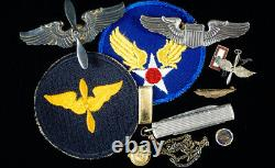 Ww2 Us Army Air Forces Pilot Cadet Grouping, Waco Texas 1943