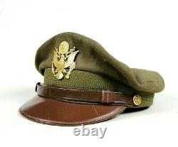 Ww2 Us Army Air Forces Usaaf Corps Officer Dress Cap Visor Hat Crusher Pilot