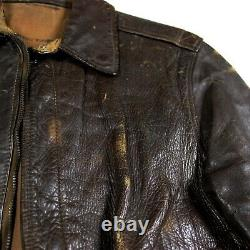 Ww2 Usaaf Army Air Forces Corps Aac Flight Jacket Type A2 A-2 Identified Ided