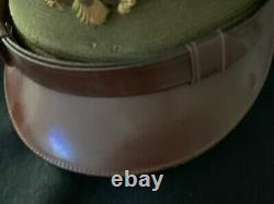 Ww II Us Army Air Force Officer's Large 71/8 Hat Badge Soft Bill Crusher Wool H