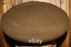 Ww II Us Army/army Air Force Officer's Olive Drab Wool Hat Named Large Eagle