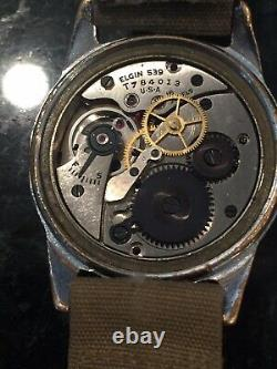 Wwii A-11 Elgin 1943 Hack Watch, Army Air Forces With Strap