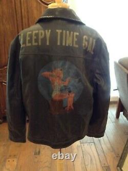 Wwii Painted Jacket Sleepy Time Gal U. S. Army Air Force Bomber Reproduction