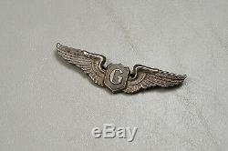 Wwii U. S. Army Air Corps Glider Pilot Wing British Made