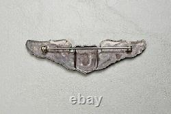 Wwii U. S. Army Air Corps Glider Pilot Wing Pin Back Sterling