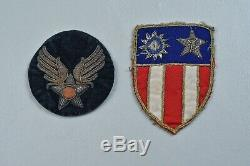 Wwii U. S. Army Air Corps Theater Made Cbi Shoulder Sleeve Insignia Pair