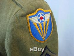 Wwii Us Army 4th Air Force Ww2 Uniform Group Tunic Jacket Shirt 2 Hats