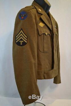 Wwii Us Army Air Force European Theater Ww2 Ike Jacket Uniform Ww2 USA Wings