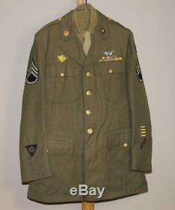 Wwii Us Army Air Force Theater Made Usaaf & Engineer Patches Complete Uniform