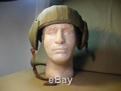 Wwii Us Army Air Forces Flak Helmet M4a2 Cloth Covered Version