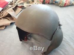 Wwii Usaaf Army Air Force M-3 Flyers Bomber's Flak Helmet & Liner