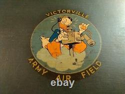 Wwii Usaaf Footlocker Disney Designed Insignia Victorville Army Air Field