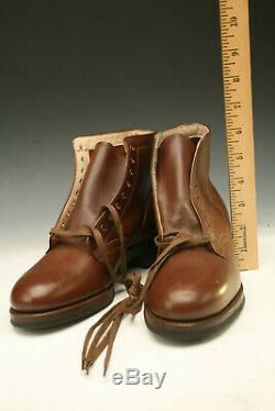 Wwii Wac Womans Wave Quarter Boots Shoes Army Air Corp No Reserve