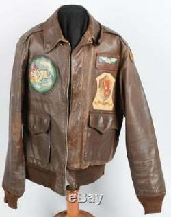 Wwii Ww2 United States Army Air Corps Id'ed Patched Bomber Jacket